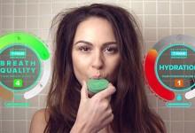能提醒你及时喝水的Mint口臭探测器—几秒就能让口臭消失无影踪