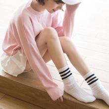 韩国纯棉女袜短袜子日系堆堆袜长袜中筒学院学生运动糖果色春秋冬