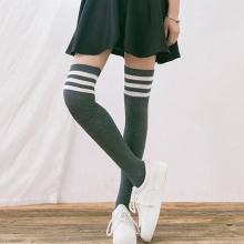 韩国日系高筒袜长筒袜子女运动过膝袜长袜显瘦春秋季学生纯棉全棉