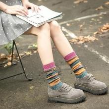 韩国日系袜子女袜堆堆袜纯棉少女学生中筒袜民族风秋冬季长袜百搭