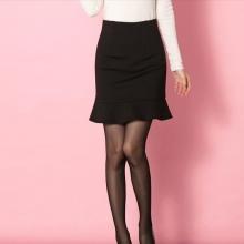 半身包臀裙修身高腰半身短裙显瘦大码一步裙鱼尾裙荷叶边